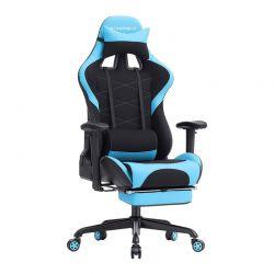 Καρέκλα Gaming με Υποπόδιο Χρώματος Μπλε Songmics RCG52BU