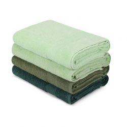 Σετ με 4 Πετσέτες Μπάνιου 70 x 140 cm Χρώματος Πράσινο Beverly Hills Polo Club 355BHP2614