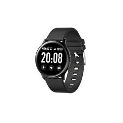 Smartwatch με Μετρητή Καρδιακών Παλμών Χρώματος Μαύρο SPM KW19-Black