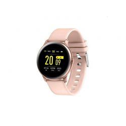 Smartwatch με Μετρητή Καρδιακών Παλμών Χρώματος Ροζ SPM KW19-Pink